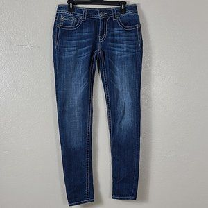 Miss Me Skinny Jeans size 30 Style JP569452 Bling
